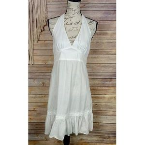 Tommy Bahama | White Halter Peasant Style Dress